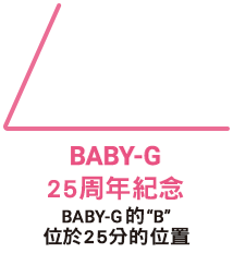 BABY-G 25th anniversary BABY-G 'B' is at the 25-minute mark