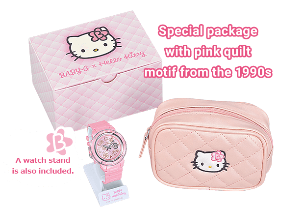 Special package with pink quilt motif from the 1990s